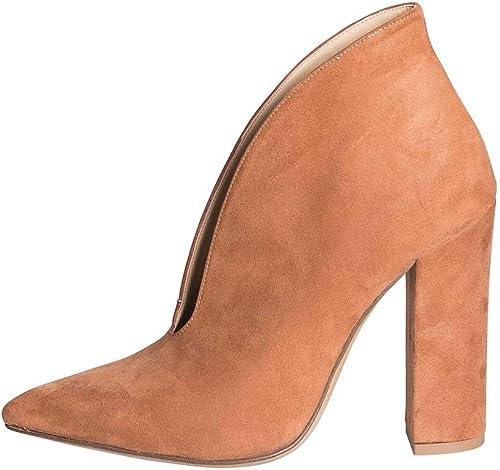 Chaussures avec Talons Confortables en Daim et Cuir, Taille 36 en Cuir véritable, avec Talon Large, Hauteur 10 cm, fabriquées en Italie, Couleur azalée