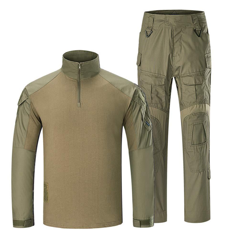 Outdoor Woodland - Camisa de Caza, Caza, Caza, Batalla, Vestido, Uniforme, táctico, Conjunto de Ropa de Combate, Camuflaje, Color Verde - XXL: Amazon.es: Deportes y aire libre