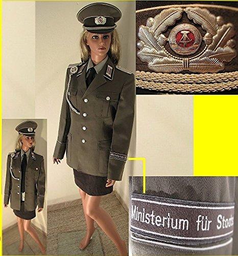 Uniform NVA,Frauen, komplett mit Zubehör, Gr. 40, Mütze, Stasi, Effekten, Kostüm, Fasching