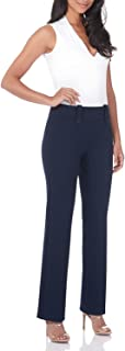 Rekucci Women's Smart Desk to Dinner Stretch Bootcut Pant w/Tummy Control
