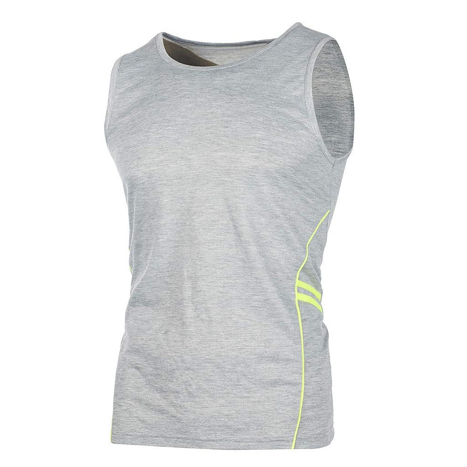Yomiafy Men's Casual Slim Comfortable Sleeveless T-Shirt Tank Top Sport Fitness Vest
