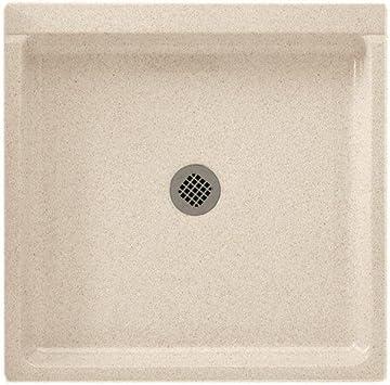 Swanstone R-3232-037 Veritek Center Drain Shower Base 32-Inch by 32-Inch by 5-1//2-Inch Bone
