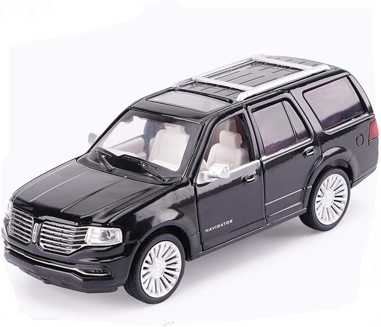 GXL Simulation Toy car Model Alloy car Model Sound and Light Pull Back Model car Lincoln car Model 1 36 ( color   Black )