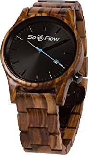 SoFlow Exotic Zebra Wood Grain Watches for Men & Women - Wooden Wrist Watch - Natural - Handmade - Gift - Quartz