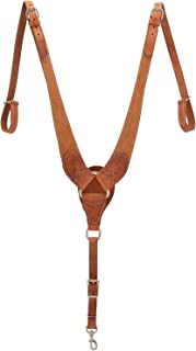 Weaver Leather 40-1122 Rough Out Russet Harness Leather Pulling Breast Collar