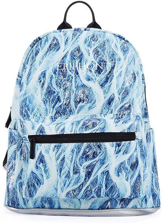 Backpack knapsack rucksack infantry pack field pack,New print female student waterproof casual mini backpack