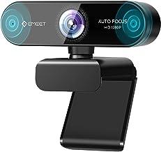 eMeet 1080P Webcam mit 2 Mikrofon - NOVA Full HD Webcam mit Autofokus, Streaming Webkamera mit Low-Light Korrektur, 96 ° S...