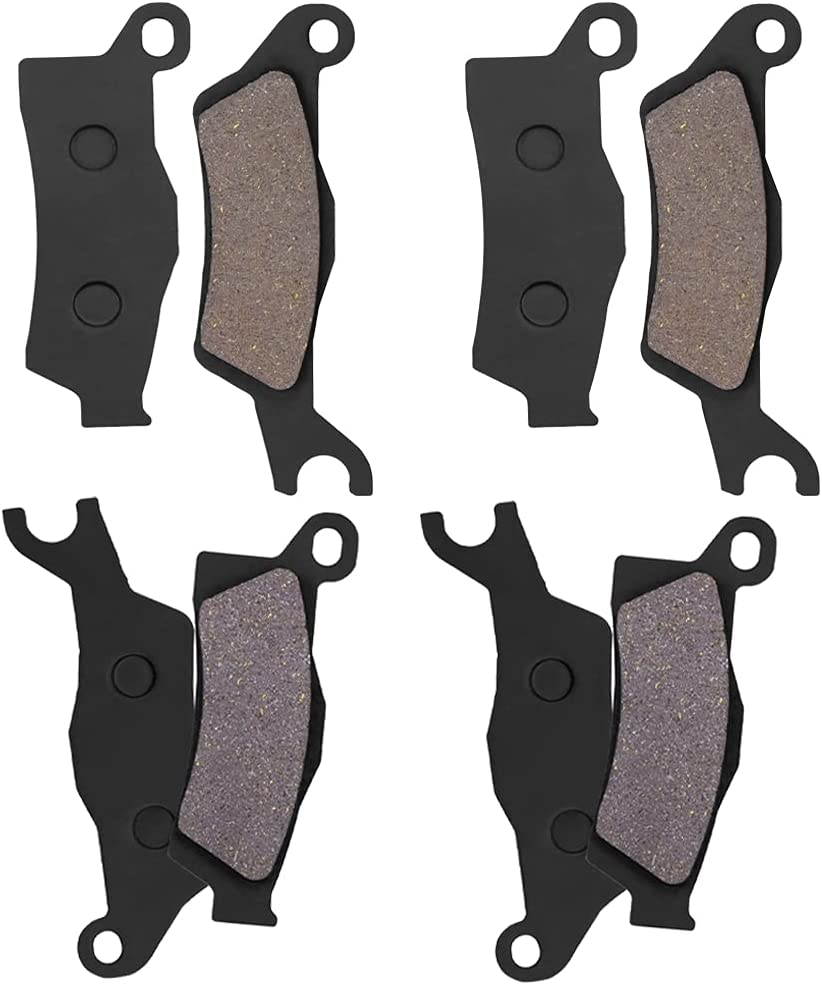 Genuine Front and Rear Brake Pad Finally popular brand Replacement 1000 for 4 Outlander Can-Am