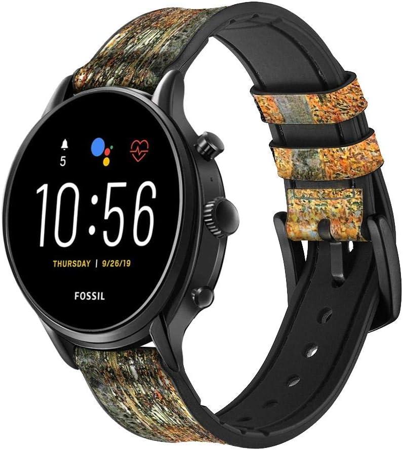 Free San Jose Mall shipping New CA0686 Gustav Klimt Birch Forest Smart Silicone Watch Leather