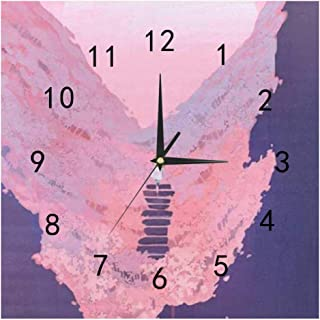 SHOP-DIY Square Wall Clock, Quality Quartz Operated for Home # Colorful Cool