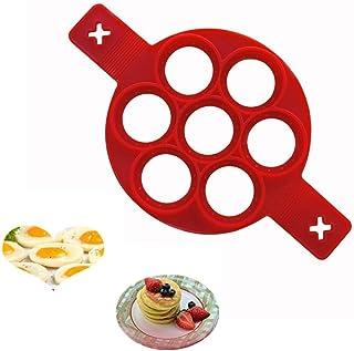 Nonstick Pancake Maker Mold Egg Ring Maker Silicone Pancake Mold Fixator Baking Cooking Tool Pastry Omelets Easy DIY Flipp...