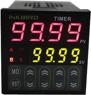 Inkbird IDT-E2RH Temporizador Digital Interruptor de Retardo, Doble Relés Controlador de Tiempo con