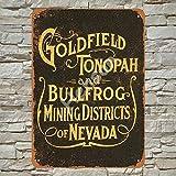 Henson 1905 Goldfield Tonopah and Bullfrog Mining Traditional Vintage Tin Sign Logo 12 * 8 Advertising Eye-Catching Wall Decoration