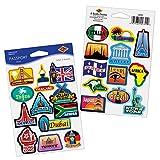 Beistle Passport Stickers   Travel, International & World Theme Party Favors (6 Sheets)