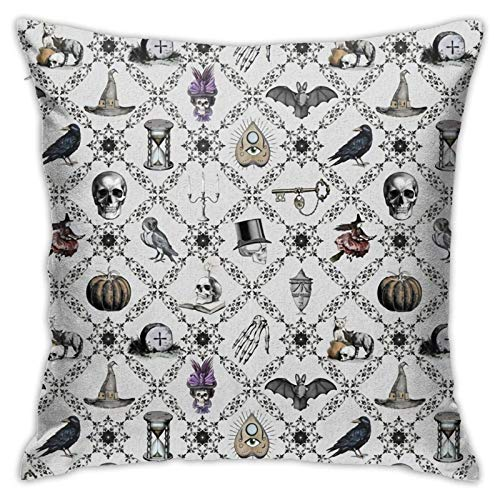 Hangdachang Halloween Throw Pillow Covers 18' X 18' inch,Square Decorative Pillowcase Pillow Cover Cushion