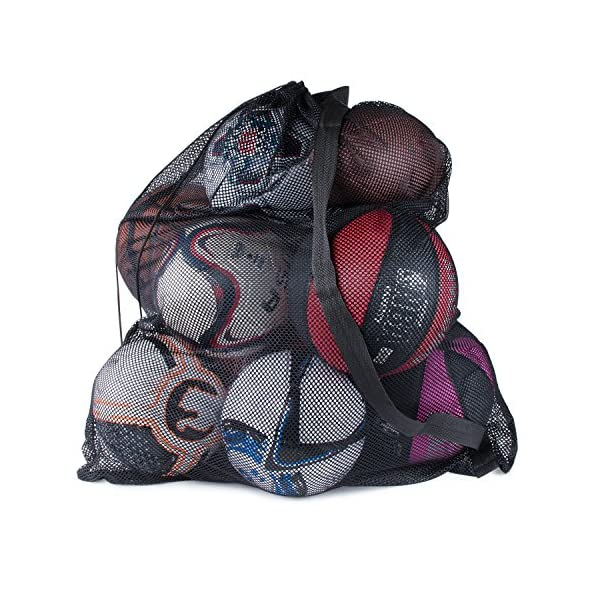 Super Z Outlet Sports Ball Bag Drawstring Mesh – Extra Large Professional Equipment...