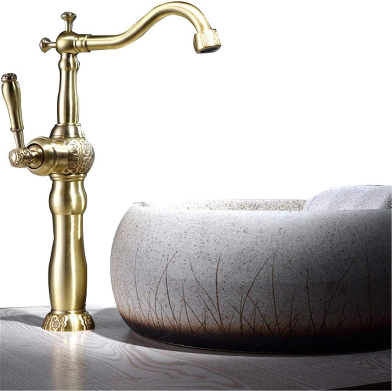 Becken Wasserhahn geschnitzten Wasserhahn heien und kalten Wasserhahn Kupfer Wasserhahn antiken Wasserhahn C