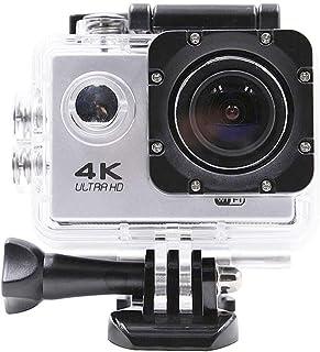 Quskto Cámaras de acción WiFi Deportes Acción cámara 4K 2K 24FPS 30FPS HD Ultra Extral 2 Pulgadas LCD en Blanco Estable y Suave Imagen (Color : White Size : One Size)