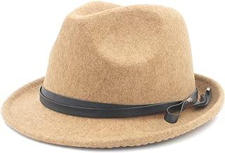 Sun Hat for men and women Gangster FedoraWomen Men Hat For Elegant Lady Gentleman Cap Felt Homburg Church Jazz Hat With Fashion Leather