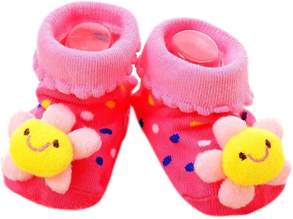 Peakpet 3D Cartoon Babysocken Winter Baumwolle warm Babys/öckchen M/ächen Junge Kleinkind Anti-Rutsch Laufsocken 0-12 Monate Neugeborene kreative Erstlingss/öckchen
