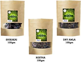 RT Keraleeyam Combo of Natural Whole Dried Amla,Ritha and Shikakai 300gm(combo of 3)