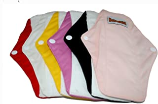 "12 Bamboo Mama Cloth/ Menstrual Pads/ Reusable & Water proof Sanitary Pads / Panty Liners by ""BubuBibi"""