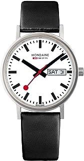 Mondaine - Classic - Reloj de Cuero Negro para Hombre y Mujer, A667.30314.11SBB, 36 MM