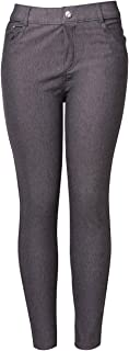 Yelete Women's Basic Five Pocket Stretch Jegging Tights Pants
