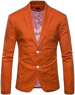Men's Blazer Slim Fit Sleeve Blazer Long Spring Simple Estilo Lapel Leisure Suit Jackets 2 Button Fashion Men Casual Busin...
