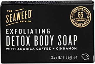 The Seaweed Bath Co. Exfoliating Detox Body Soap, Unscented, Natural Organic Seaweed,..