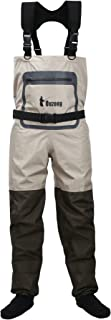 Ouzong 3-Ply Durable and Comfortble Breathable Stocking Foot Chest Wader for Men and Women