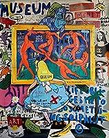 Graffiti Wall Art Streetカラフルな落書きキャンバス絵画壁アートストリートポスターとホームクアドロスの装飾のためのプリント (Color : U567, Size (Inch) : 50x70cm no frame)