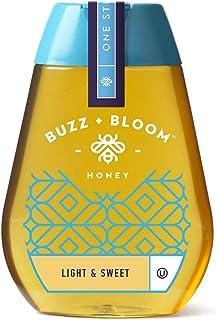 Buzz + Bloom Light & Sweet Honey, 8.0 Ounce (Pack of 6)