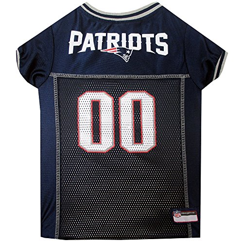 Pets First NFL NEW ENGLAND PATRIOTS DOG Jersey, Small