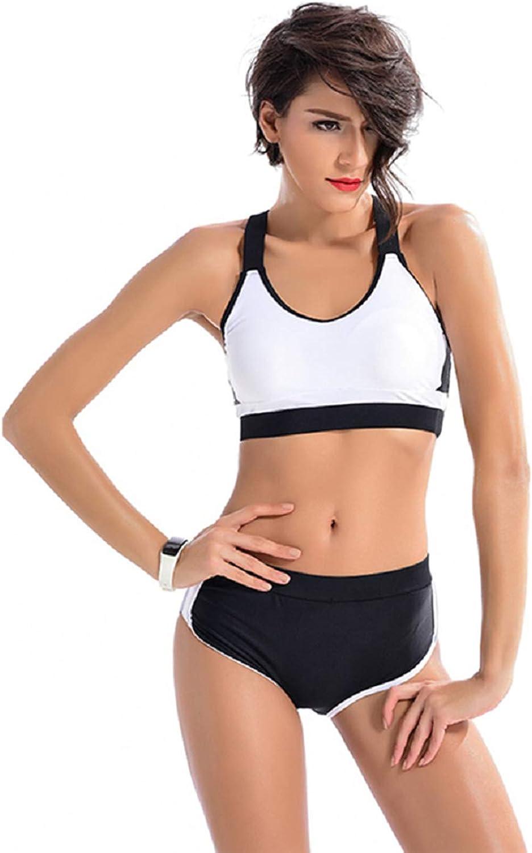 Chenrry Women Two Piece Racerback Top Boyshort Athletic Sports Swimsuits Swimwear Bathing Suit