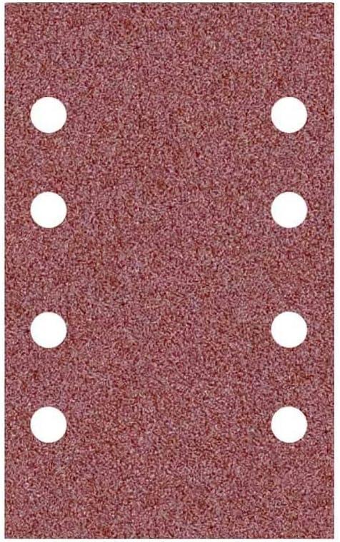 133 x 80 mm p Grain 40 Ponceuses vibrantes Lot de 50 8 trous MioTools Fox Feuilles abrasives auto-agrippantes