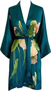 hand painted silk robe