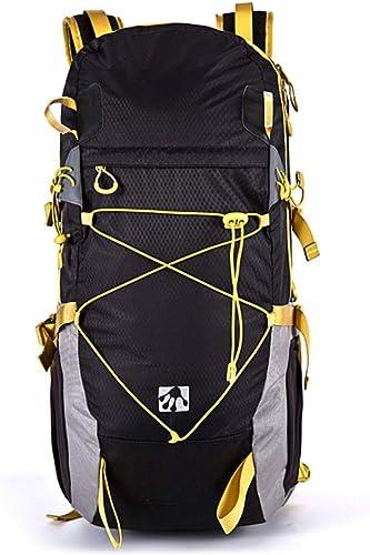 WING De Plein air Randonnée Escalade Sac à Dos Daypacks étanche Alpinisme Sac 30L Unisexe Haute capacité Sac de Voyage,noir
