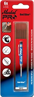 Markal 97272 Red Riter Pro Refills, Red - 6 Pack