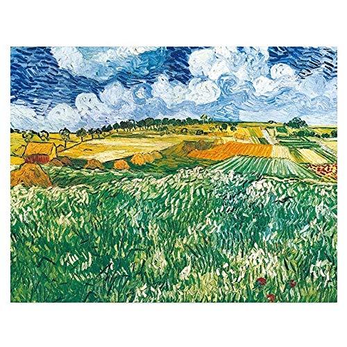 BGFDV Pintor Pintor Van Gogh Cielo Paisaje Pintura al óleo sobre Lienzo póster impresión Imagen artística en la Pared para la Sala de Estar