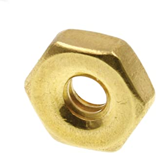 3//8 in.-16 Solid Brass 25-Pack Prime-Line 9074536 Machine Screw Hex Nuts