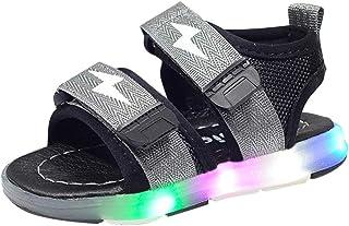 comprar comparacion YWLINK Antideslizante Verano Fondo Blando CóModo El Comercio Exterior De NiñOs LED Luz Deportes Playa Zapatos Sandalias Lu...
