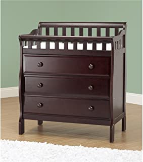 Orbelle Trading Changing Station with 3 Drawers, Espresso