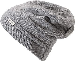 CHENDX High Quality Hat, Women's Winter Daily Beanie Hat Warm Polar Fleece Skull Cap for Men & Women (Color : Silver)