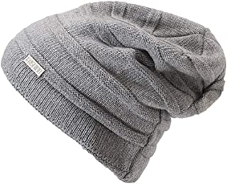 Hats Women's Hat Winter Beanie Hat Warm Polar for Men and Women Fashion (Color : Silver)