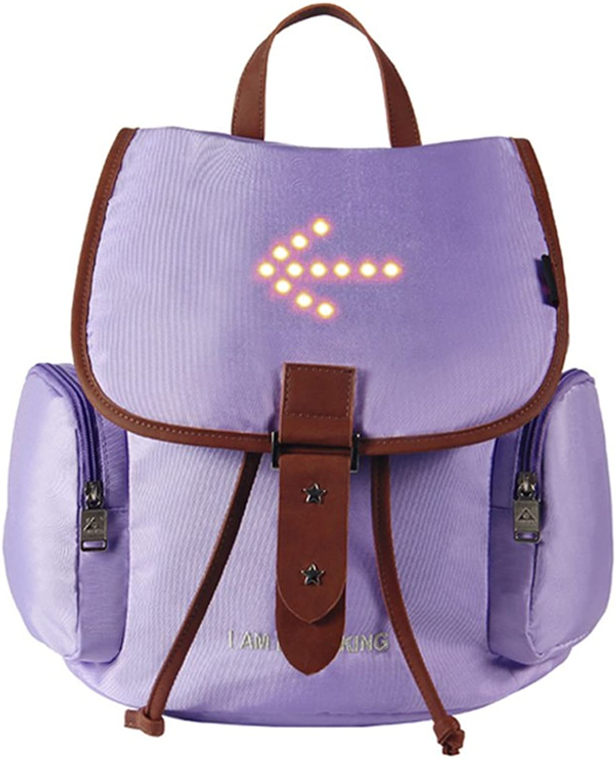 Bicycle Backpack Cycling Bags with LED Warning Light Multifunction Casual Rucksack Women's Bag