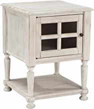 Ashley Furniture Signature Design - Mirimyn Chair Side End Table - Cottage Style Accent Table - Chipped White
