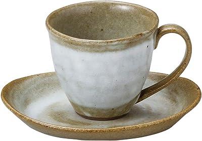 山下工芸 カップ_ソーサー 白 φ8.5×7.5cm(180cc) 白刷毛碗と受皿 15050760
