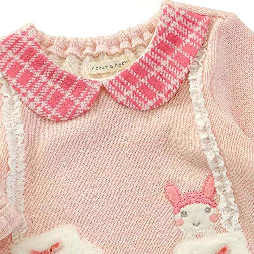 『coeur a coeur (クーラクール) トレーナー (70~100cm) キムラタンの子供服 (44419-184) ピンク 80』の4枚目の画像