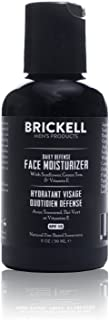 Brickell Men's Daily Defense Face Moisturizer for Men, Natural and Organic Zinc Based SPF 15, 2 Ounce, Unscented